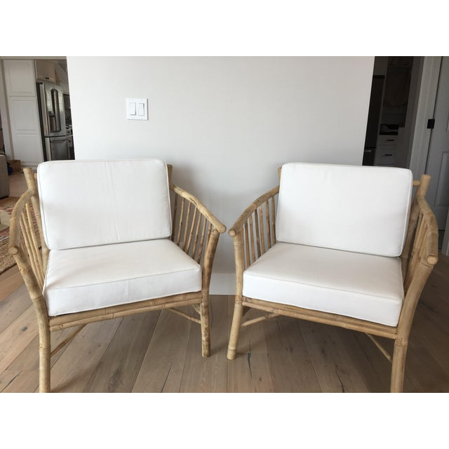 Bamboo Club Chairs - A Pair - Image 2 of 6