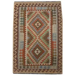 Southwestern Multicolored Small Geometric Hand Woven Carpet - 3' 4 X 5' 2 For Sale