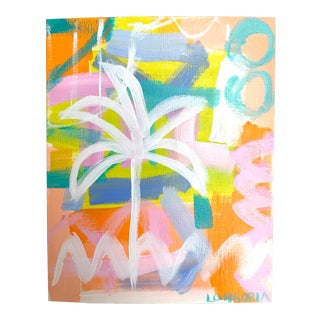 """""""Palms #10"""" Abstract Painting by Christina Longoria For Sale"""