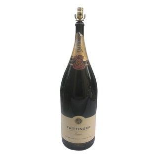 Extra Large Taittinger Champagne Bottle Lamp
