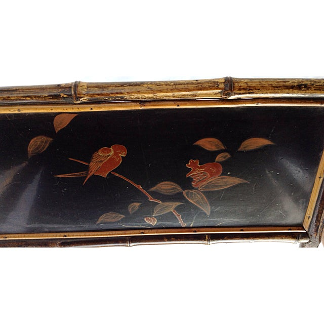 Chinoiserie Black Lacquered Table - Image 6 of 6