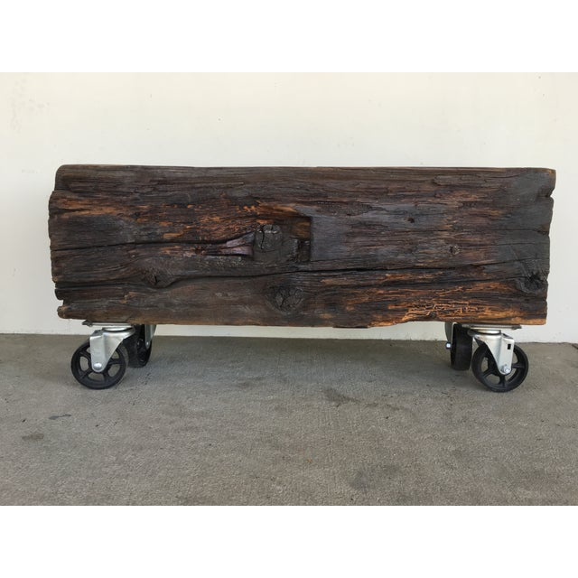 Offered is a reclaimed, rustic beam from San Francisco's pier demolition. At least 100 years old. It has been given a new...