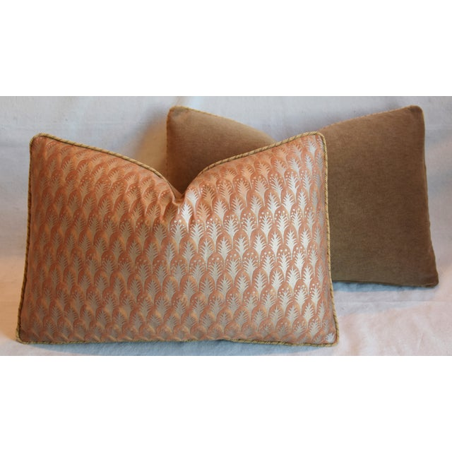 """Cotton Italian Mariano Fortuny Piumette Feather/Down Pillows 23"""" X 15"""" - Pair For Sale - Image 7 of 13"""