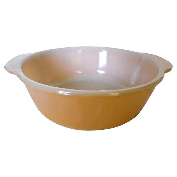 Fireking Vintage Brown & White Mixing Bowl - Image 1 of 3