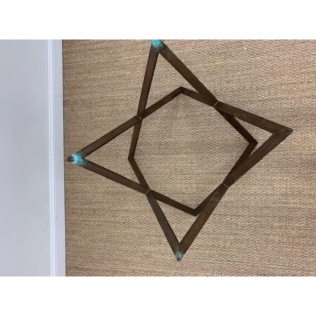 Mid Century Bronze Interlocking X Table Base For Sale In Washington DC - Image 6 of 12
