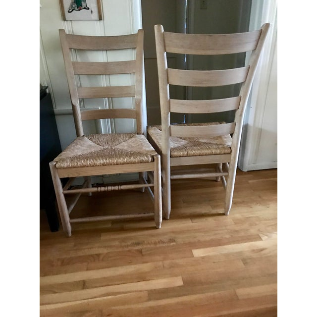 Pair of Natural Wood Italian Gio Ponti Style Ladder Back Chairs - Image 9 of 10
