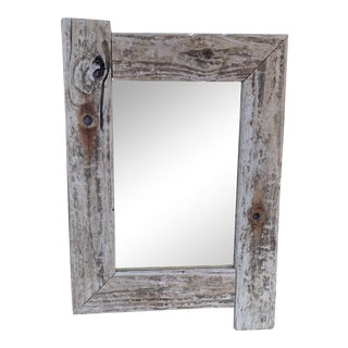 John Scarola Handcrafted Driftwood Mirror For Sale