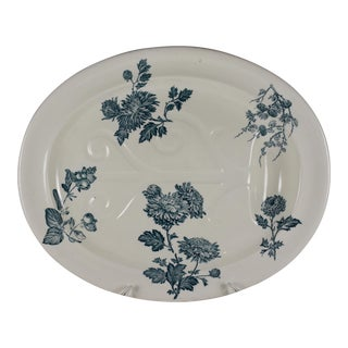 Wedgwood Aesthetic Well & Tree Chrysanthemum Turkey or Roast Platter, 1886 For Sale
