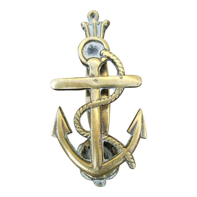 Brass Anchor Door Knocker For Sale