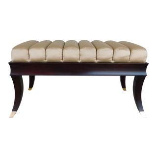 "Baker Regency Style Mahogany Frame Settee Bench 38.5""w For Sale"