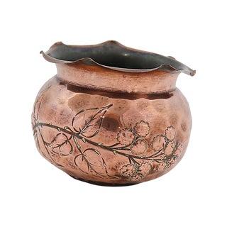 Antique English Copper Flower Pot / Planter For Sale