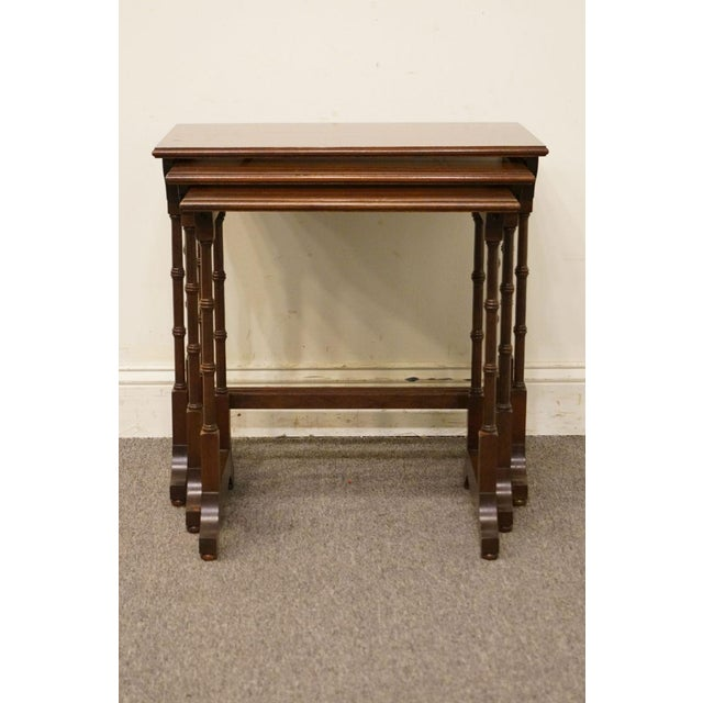 Ethan Allen Ethan Allen Georgian Court Nesting End / Accent Tables - Set of 3 For Sale - Image 4 of 13