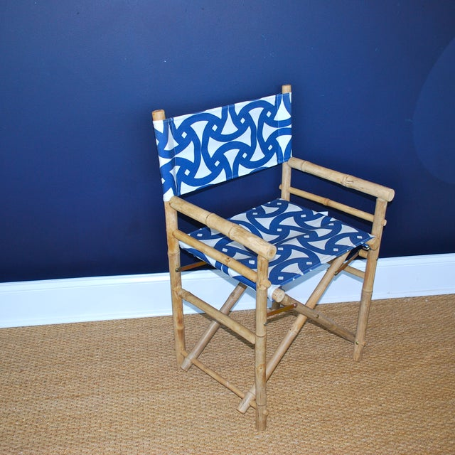 Bamboo Director's Chairs - Set of 4 - Image 4 of 7