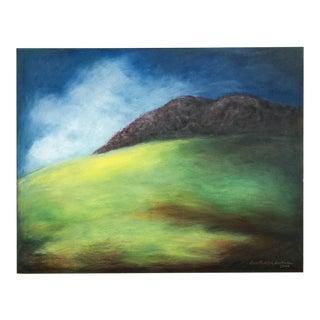 """Hillside"" California Landscape Painting by June Parrish Cookson For Sale"
