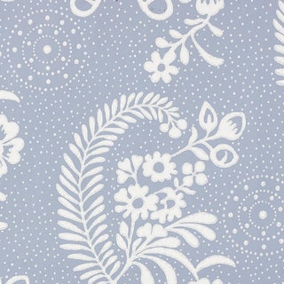 Schumacher Millicent Wallpaper in Delft For Sale
