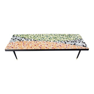 Mid-Century Modern Art Mosaic-Top Long Rectangular Table For Sale