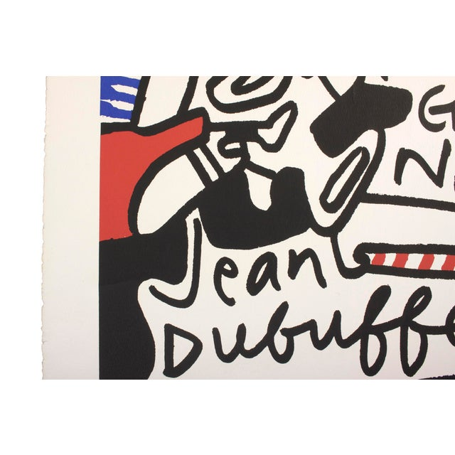 """Spectacular """"Simulacres"""" original lithograph by Jean DuBuffet. Printed November 1969, Pace Gallery New York, on a..."""