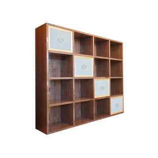 Walnut Veneer Stairway Wall Unit