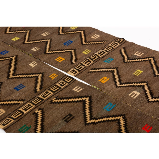 Tribal Mixtec Cloud and Thunder Symbol Serape Blanket Oaxaca Mexico For Sale - Image 3 of 6