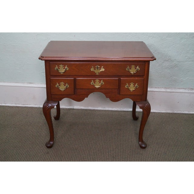 Queen Anne Style Solid Mahogany Low Boy - Image 2 of 10