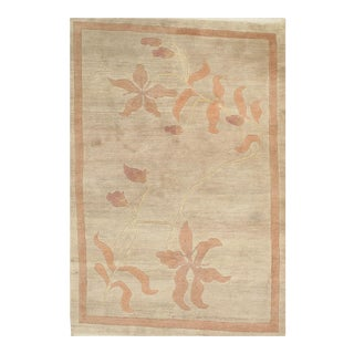 Pasargad N Y Contemporary Tibetan Hand Knotted Rug - 4′1″ × 5′11″ For Sale