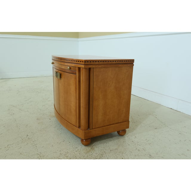 1990s Hickory White Satinwood Genesis Collection Nightstand For Sale - Image 5 of 7