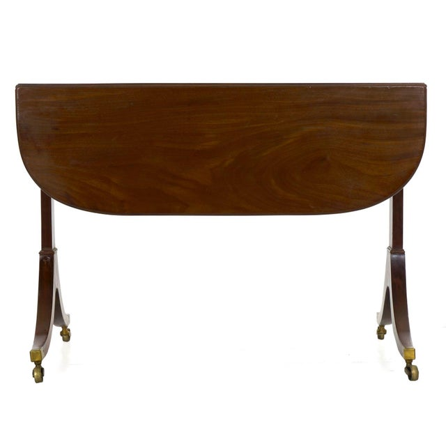 19th Century English Regency Antique Mahogany Sofa Accent Table, Circa 1815 For Sale - Image 6 of 13