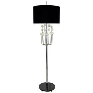 Mid Century Modern Chrome Floor Lamp Lucite Balls by Laurel Springer Era 1960s For Sale