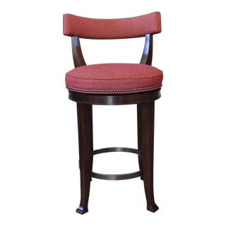 Curved Back Swivel Bar Stool For Sale