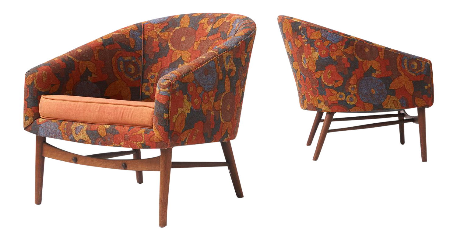 Lawrence Peabody Lounge Chairs For Selig   Image 1 Of 7