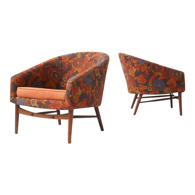 Lawrence Peabody lounge chairs for Selig - A Pair For Sale