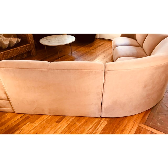 Blush Serpentine Sectional Sofa by Vladimir Kagan for Weiman For Sale - Image 6 of 12