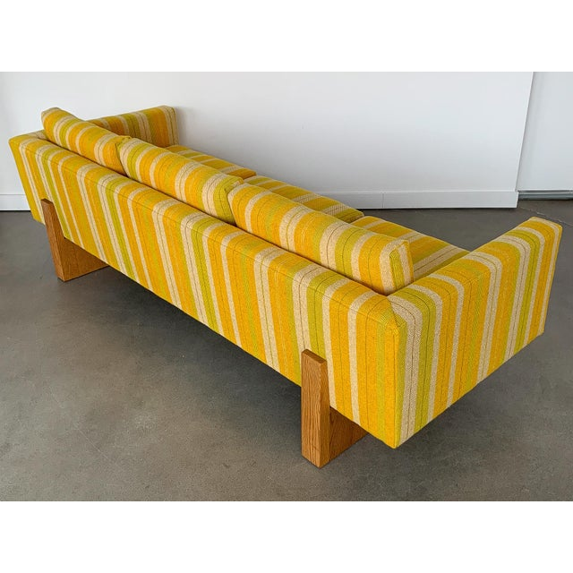 Harvey Probber Tuxedo Sofa With Oak Legs For Sale In Chicago - Image 6 of 13