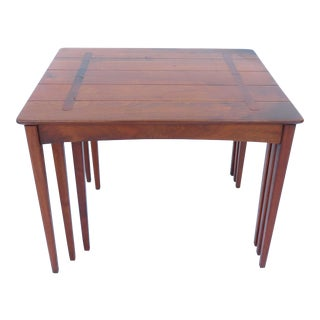 Rare Set of 3 Maple Nesting Tables by Conant Ball 1950s Mid-Century Modern For Sale
