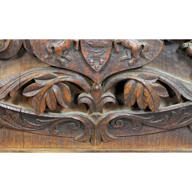 German Carved Oak Coat of Arms For Sale In Boston - Image 6 of 9