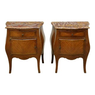 Early 20th Century French Louis XV Bombe Tables - a Pair For Sale