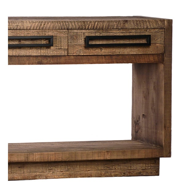 modern reclaimed wood console table chairish