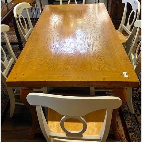 Modern Cabriole Leg Dining Table - Image 3 of 4