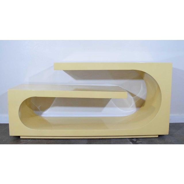 Tan 1980s Sculptural Console, Milo Baughman For Sale - Image 8 of 8