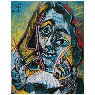 "Rare 1985 Pablo Picasso, ""The Smoker"" Parisian Photogravure For Sale"