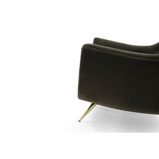 Henry Glass Lounge Chairs in Mohair - a Pair For Sale - Image 11 of 13