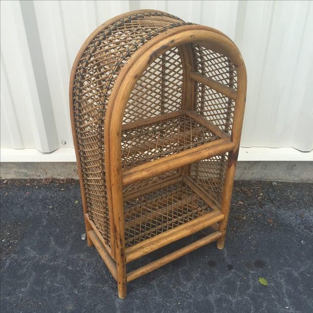 Brown Vintage Rattan Shelf For Sale - Image 8 of 8