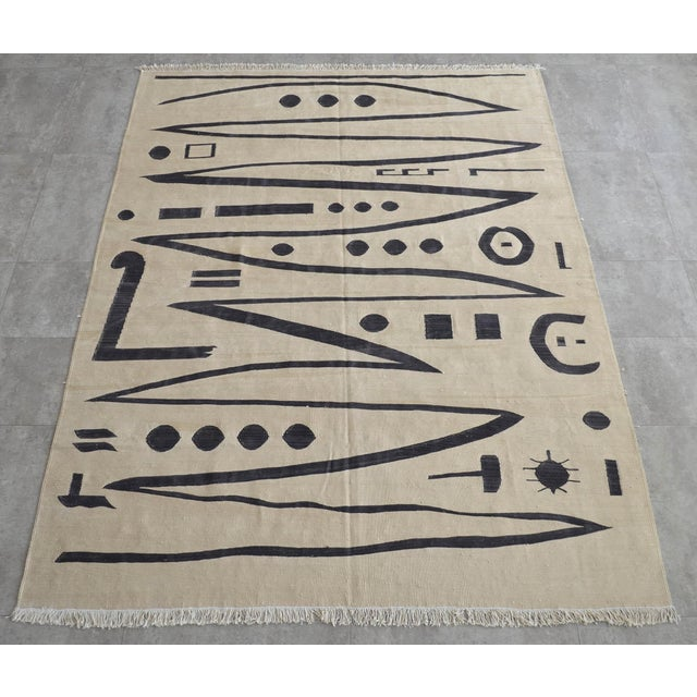 Contemporary Paul Klee - Heroic Strokes of the Bow - Inspired Silk Hand Woven Area - Wall Rug 4′10″ × 6′7″ For Sale - Image 3 of 12