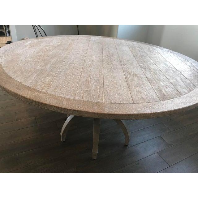 Global Views Klismos White Oak Round Table - Image 10 of 11