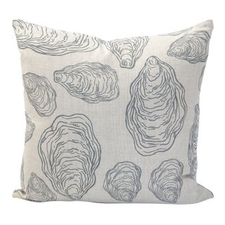 Design No. Five Cape Cod Grey Oyster Pillow For Sale