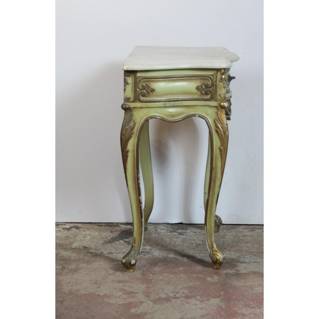 1950s Italian Marble Top Nightstands - a Pair For Sale - Image 4 of 8