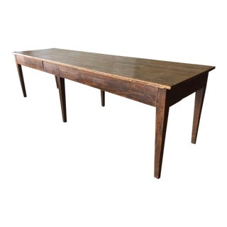 Tuscan Antique Dining Table- Seats 10 For Sale
