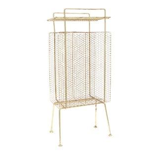 Mid Century Modern Gold Brass Magazine Stand