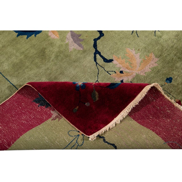 Early 20th Century Antique Chinese Art Deco Rug For Sale In New York - Image 6 of 8
