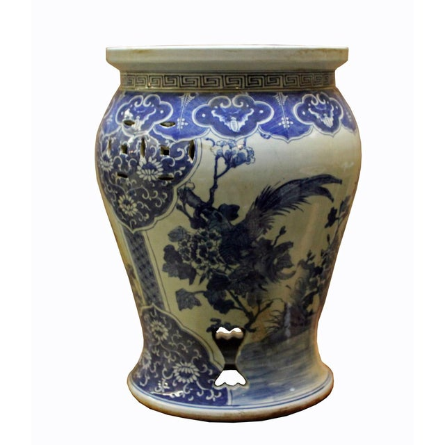 Chinese Blue & White Porcelain Stool - Image 5 of 8